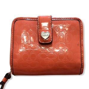 COACH Orange Leather Wallet